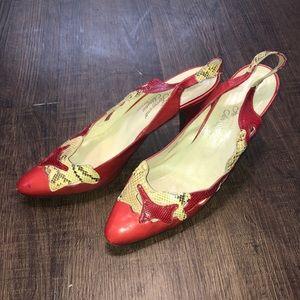 Vtg. Salvatore Ferragamo Rosina Schiavone Shoes 9N